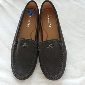 Coach Amber Grey SuedeDriving Moccasin NWOT,  7.5